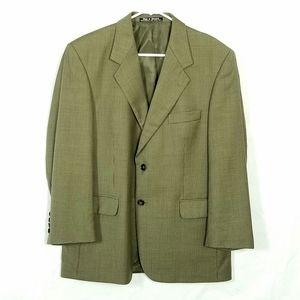 Daniel Gray Men's Blazer Olive Green Brown 100% Wo